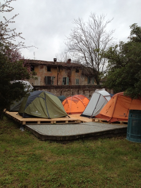 the Emergency Urban Camping by Esterni @ Piscina Argelati, Milan